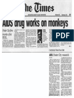 Gilead's AIDS Drug PMPA [tenofovir / Viread] Works in Monkey AIDS Model; Gilead CEO & Founder Michael L Riordan Interview 1995