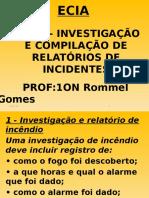 Ecia - Capítulo 4 - Investigação e Compilação de Relatórios de Incidentes (Planos de Controle de Incêndio)