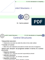 ITC Lec 09 Control Structures - I
