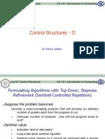 ITC Lec 10 Control Structures - II