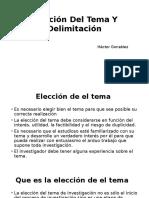 Elección Del Tema Y Delimitación