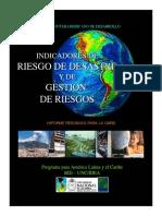 Indicadores De_riesgo de Desastre_riesgo - Bid