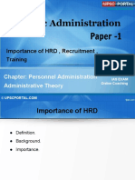 PUB AD (9 A) - Chapter- 9- Importance of HRD, Recruitment,Training.pdf
