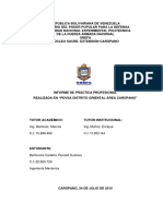 Informe de Pasantias UNEFA 2