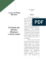 O Fetiche Dos Direitos Humanos e Outros Temas - Vicente de Paulo Barreto