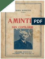 Radu Rosetti Amintiri Din Copilarie