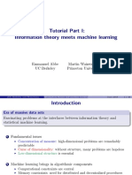 Tutorial Part I Information Theory Meets Machine Learning Tuto_slides_part1