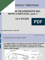 Lezione n.10 Organi Di Trasmissione Del Moto