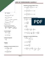 Formulario de Termodinamica Quimica i