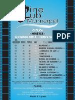 Program a Cineclub 0 to ñ o 2016