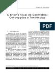 O Ensino Atual de Geometria