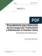 Procedimiento Para Aplicacion de Los Cargos de Trans y Dist Clientes Libres
