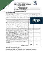 Lista de Cotejo Para Practica Integradora de Sistema Operativo Comercial