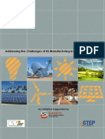 CSTEP Addressing the Challenges of RE Manufacturing in India Report 2015