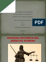DIAPOSITIVA - DIVISION HISTORICA DEL DERECHO ROMANO.pptx