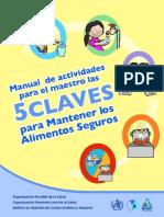 Manual de Actividades 5 Claves Para Mantener Los Alimentos Seguros