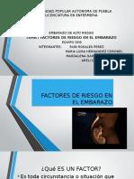 Factores de Riesgo en El Embarazo