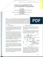 1999 Seddon Murphy and Williams - Assessment of Liquefaction Flow Thickened Tailings