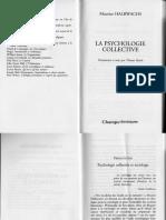 Halbwachs Psychologie Collective