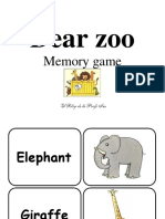 Dear Zoo - Memory Game