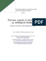 Développement, Sciences Sociales Et Logiques Paysannes en Afrique