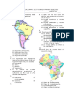 Examen de Geografia Sexto. Primer Bimestre