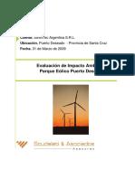 Estudio de Impacto Ambiental - Energia Eolica Puerto Deseado