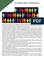 Educación Sexual Integral (ESI)