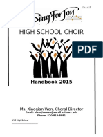 high school choir hand book