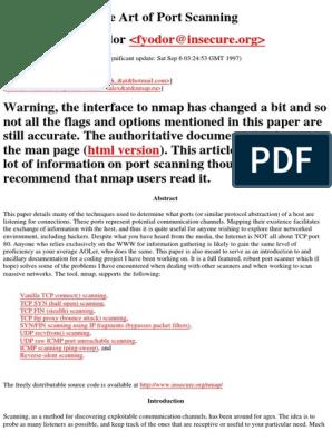 Nmap The Art Of Port Scanning pdf | Transmission Control
