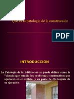 Patologia en Edificios