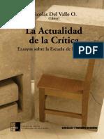 La Actualidad de La Critica. Ensayos Sob (1)