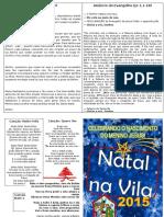Folheto Natal Na Vila 2015