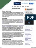 Pengenalan, Apa Itu Forex, Definisi Forex
