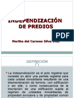 Independizacion Predios Dra.