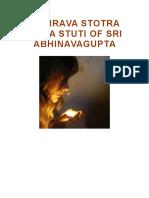 Bhairava Stotra Shiva Stuti of Sri Abhinavagupta