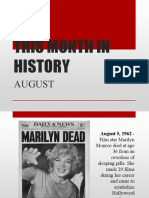 August in History