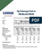 Pricelist Lumina Cab 2016