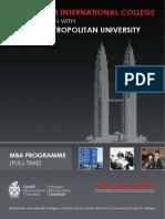 MBA at WIC Malaysia