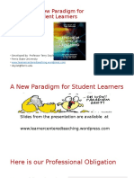 New Paradigm for Student Learners Bousman Conference November 4, 2016