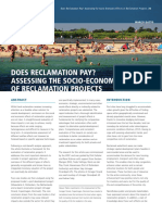 Areclamation Pay Assessing the Socio Economic Effects of Reclamation