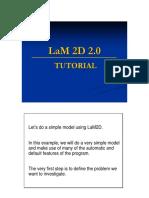 Tutorial LaM2D LaModel 2D