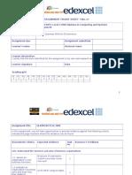 Assignment_Frontsheet E Commerce BTECH
