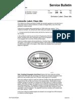 Emission Label Clean Idle