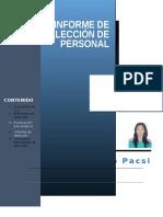 Seleccion de Personal Informes y Anexos