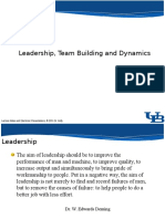 02 Leadership, Team Building and Dynamics