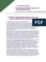 A Micro Historia Barhiana