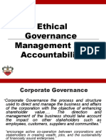 Ethical Governance Management and Accountability