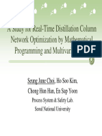 Real-Time Distillation Column Network Optimization by Mathematical