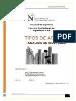 Tipos de Acero Analisis Estructural.